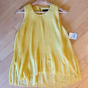 Brand new - Yellow pleated Zara tank top